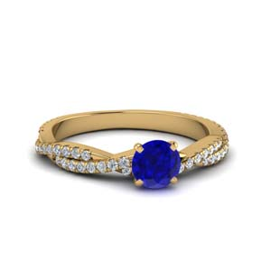 Infinity Sapphire Ring