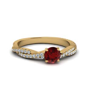 Braided Shank Ruby Wedding Ring