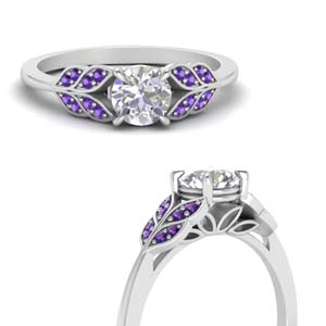 White Gold Purple Topaz Ring