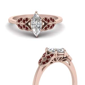marquise-cut-vintage-leaf-diamond-engagement-ring-with-ruby-in-FD8240MQRGRUDRANGLE3-NL-RG