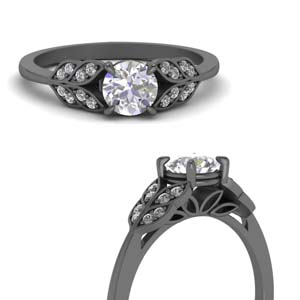 Black Gold Diamond Rings
