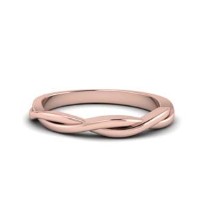 Rose Gold Twisted Band