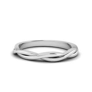 14K White Gold Infinity Twist Band