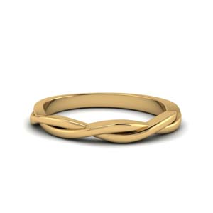 Braided Wedding Band 18K Yellow Gold