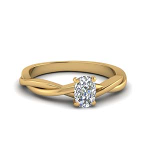 Braided Cushion Diamond Ring