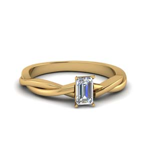 Braided Yellow Gold Diamond Ring