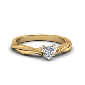 Twisted Vine Solitaire Diamond Ring