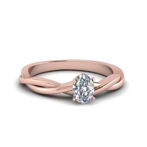 Solitaire Oval Braided Ring