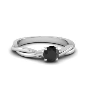 Black Diamond infinity Ring