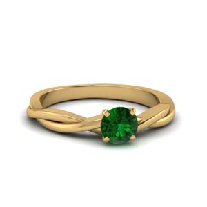 Yellow Gold Emerald Engagement Ring