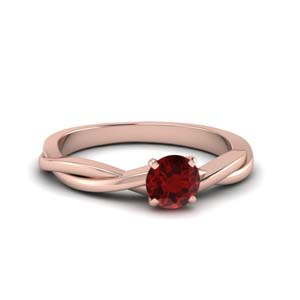 Ruby Solitaire Wedding Ring