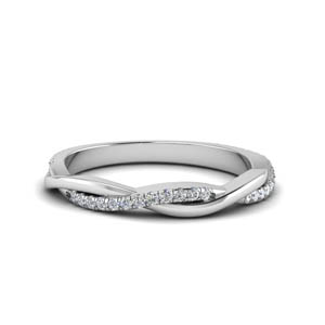 infinity twist diamond wedding band in 950 platinum FD8253B NL WG