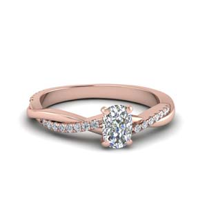 Cushion Cut Vine Engagement Ring