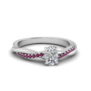 Cushion Cut Vine Ring