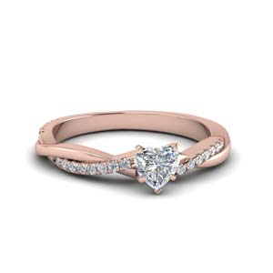 heart shaped infinity twist diamond engagement ring in FD8253HTR NL RG