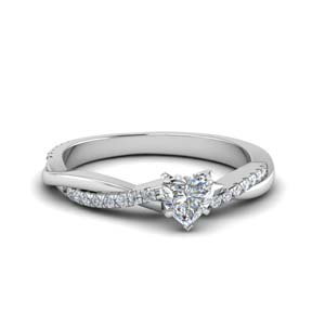 Twist Vine Heart Diamond Ring