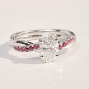 oval shaped twisted engagement ring 2 carat with ruby in FD8253OVR-NL.jpg