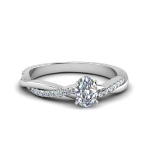 Moissanite Oval Twisted Ring
