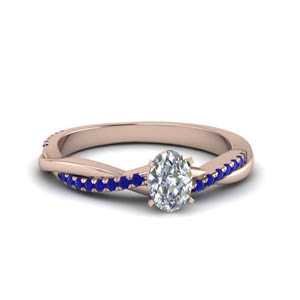 Sapphire Twisted Ring 2 Carat