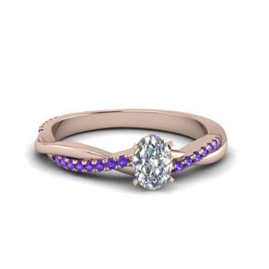 2 Ct. Twisted Purple Topaz Ring