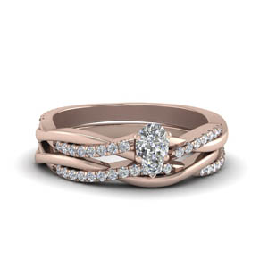 Infinity Pear Diamond Bridal Set
