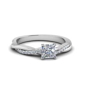 Moissanite Twisted Vine Engagement Ring