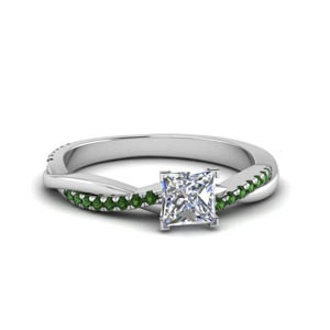 Vine Princess Cut Ring
