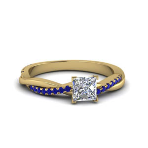 Princess Cut Infinity Wedding Ring