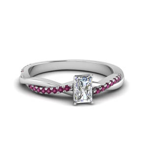Pink Sapphire Braided Ring
