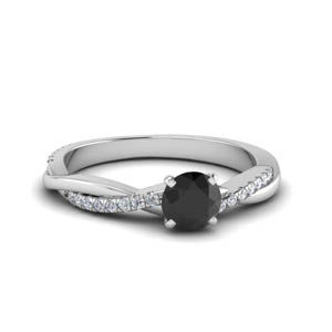 Twisted Vine Black Diamond Ring