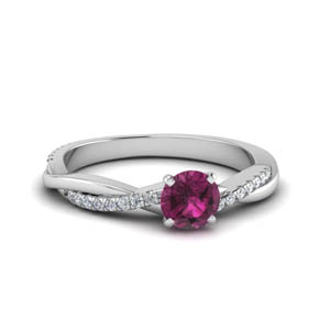 Petite Twisted Pink Sapphire Ring