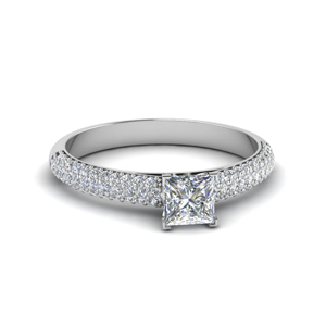 3 Row Moissanite Wedding Ring