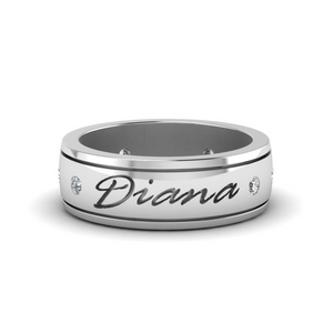 Personalized Mens 6.0 mm Diamond Band