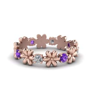 Daisy Purple Topaz Eternity Band