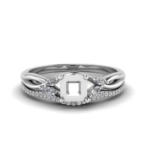 Semi Mount Diamond Wedding Set