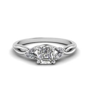 0.75 Carat Asscher Diamond Ring