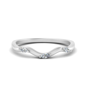 Wave Design Marquise Band