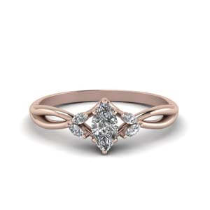 Marquise Cut Petal Diamond Ring