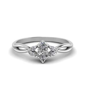 Twisted Petal Moissanite Ring