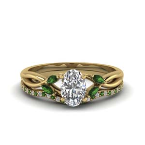 18K Gold Wedding Ring Sets