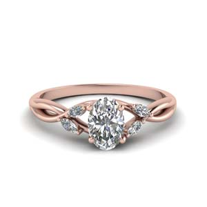 1.25 Carat Diamond Twisted Ring