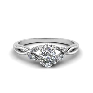 1.25 Ct. Oval Diamond Twisted Ring