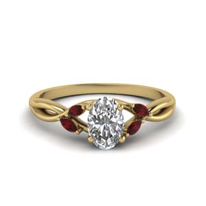 Twisted Petal Ruby Ring