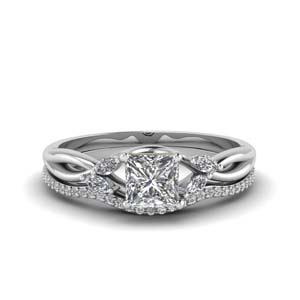 Twisted Wedding Ring Set