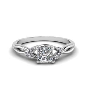 Princess Cut Petal Diamond Ring