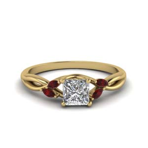 Accent Ruby Split Shank Ring