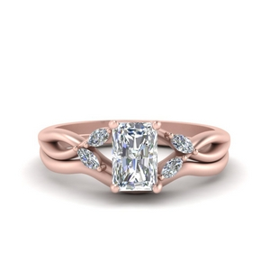 Radiant Cut Wedding Ring With Band