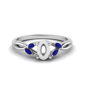 Sapphire Twisted Petal Ring Setting