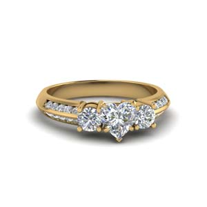 Channel Diamond Accent Ring