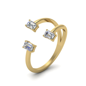 Gold 3 Stone Diamond Ring